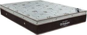Colchão Sleep King Casal 138X188X32 Molas (Ensacadas) Marrom/Branco Ortobom