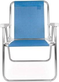 Cadeira Alta Alumínio 2274 Azul Royal - Mor.