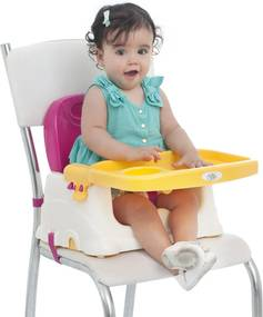 Cadeira Cadeirinha AlimentaçÁo Bebê Portátil Baby Style Rosa