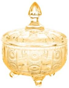Potiche Decorativo Vidro Âmbar 15x12cm 27639 Prestige