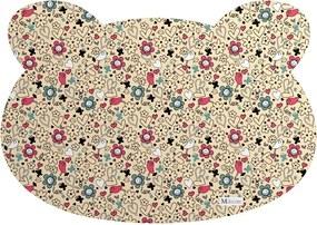 Tapete PET Mdecore Urso Pássaros Bege54x39cm