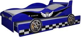 Cama De Solteiro Bibox Com Auxiliar Enzo Gelius Azul