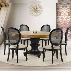 Conjunto de Jantar Filomena Madeira Maciça com 6 Cadeiras -