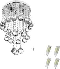 Pendente Cristal Legitimo Classic Round Long 25 + Lamp 3000