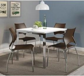 Conjunto de Copa com Mesa Elis e 4 Cadeiras Flex