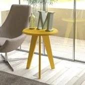 Mesa de Apoio Para Sala ElIis Amarelo MDF Artely