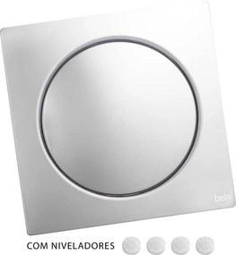 Ralo Click Inteligente de Banheiro 15x15 cm (Inox Espelhado)
