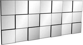 Quadro Espelho Block Extra Grande 1,75 MT (LARG) cor Preto Brilho - 52884 Sun House