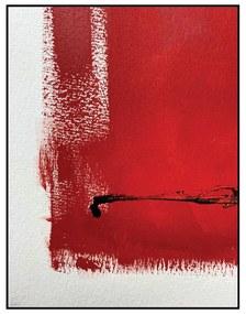 Quadro Decorativo Abstrato Vermelho e Branco - CZ 44129