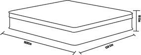 Colchão Espuma Confortex D45 Casal 138 x 188 X 14  - Plumatex Preto
