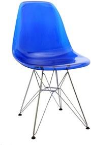 Cadeira Sydney com Estrutura de Alumínio e Assento em Policarbonato