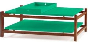 Mesa de Centro Uno Acabamento Cacau Laca Verde Anis - 27130 Sun House