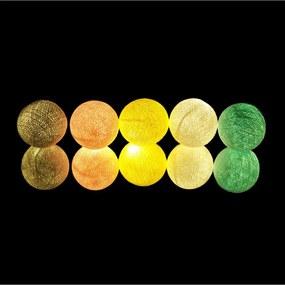Fio De Luz Praga Kit 35 Bolas 110v Cormilu Amarelo