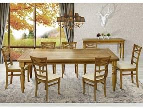 Jogo Mesa de Jantar Fiore Oregon 220cm com 08 Cadeiras Sky Linho Bege Claro - Gran Belo