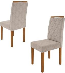 Kit 02 Cadeiras Isabela Para Sala de Jantar 99cm MDF - Megasul