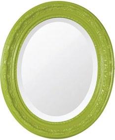 Espelho Oval Bisotê Verde Retrô Médio