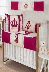Kit Berço I9 baby Americano 9 peças Princesa Marsala