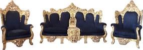 Jogo de Sofá Clássico Imperial Preto