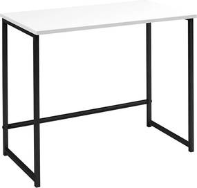 Escrivaninha Industrial Home Preto com Branco - Wood Prime WF 35359