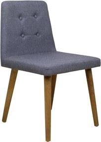 Cadeira Zola com Botões Castanho - Wood Prime PTE 38262
