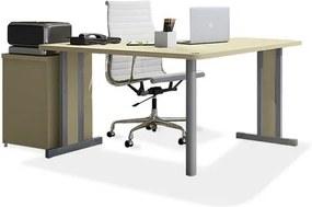 Conjunto de Escritório com Estação de Trabalho e Gaveteiro Maestro e Cadeira Meriva