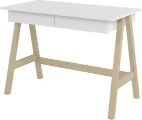 Escrivaninha Old Branco com Natural - Tebarrot Móveis