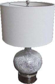 Abajur de Mesa em Vidro Cinza Craquelado 65 cm X 38 cm