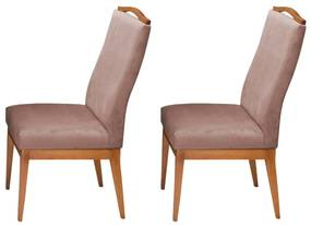 Conjunto 2 Cadeiras Decorativa Lara Veludo Crepe