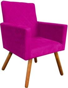Poltrona Decorativa Nina Tressê Suede Pink  D'Rossi