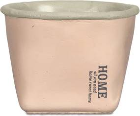 Cachepot Home Rosa em Cimento