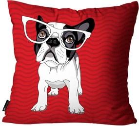 Almofada Mdecore Bulldog Vermelha45x45cm