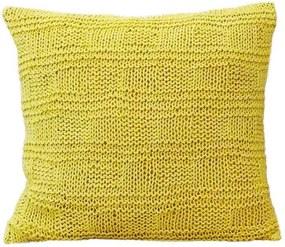 Almofada De Tricô Amarela 45x45 Cm