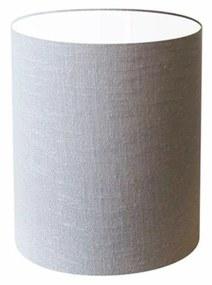Cúpula Abajur Cilíndrica Cp-8001 Ø13x15cm Rustico Cinza