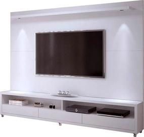 Conjunto Painel e Rack Ducam 200 cm - Wood Prime RM 33181