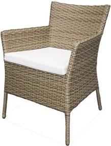 Cadeira Rivera Estrutura Aluminio Revestida em Fibra Sintetica cor Madeira - 44550 Sun House