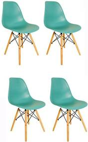 Kit 4 Cadeiras Eiffel Charles Eames em ABS Tiffany - Facthus