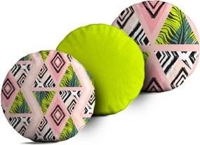 Kit 3 Almofadas Love Decor Redondas Tropical God Único