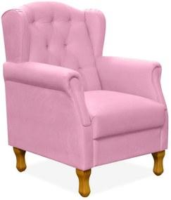 Poltrona Decorativa Para Sala de Estar Yara Corino Rosa - Lyam Decor