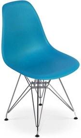 Cadeira Charles Eames Eiffel Base Metal - Turquesa