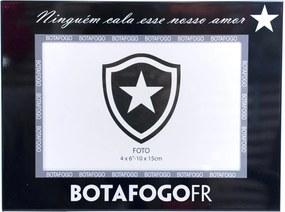 Porta Retrato Minas de Presentes 1 Foto 10X15cm Metal - Botafogo Preto