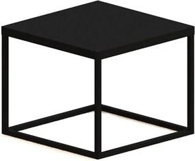 Mesa de Centro Eliza em Aço Carbono - Preto 32cm