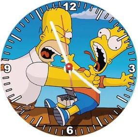 Relógio Decorativo Simpsons Homer e Bart no Telhado