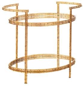 Mesa Bar com Efeito Bambu - Dourado  Dourado