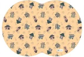 Tapete PET Mdecore Geométrico Casa Laranja 54x39cm