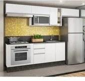 Cozinha Completa Modulada Audácia Branco em MDF 8 Módulos Nicioli