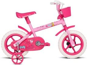 Bicicleta F Paty Rs C/Ac Fucsia - Aro 12