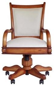 Cadeira com Braço Giratória Victory Madeira Maciça Design Clássico Avi Móveis