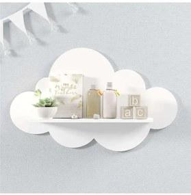 Prateleira Nuvem Branca Quarto Bebê Mdf G 60cm Grã