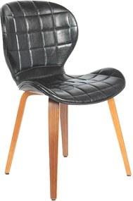 Cadeira Decorativa de Escritório Recepção GranClass PU Preto - Gran Belo