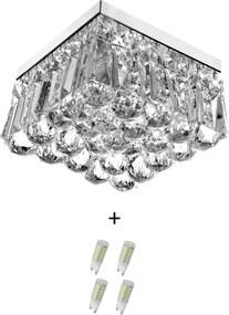 Lustre De Cristal Legitimo Wonderwall 20x20 com Lâmpadas 300